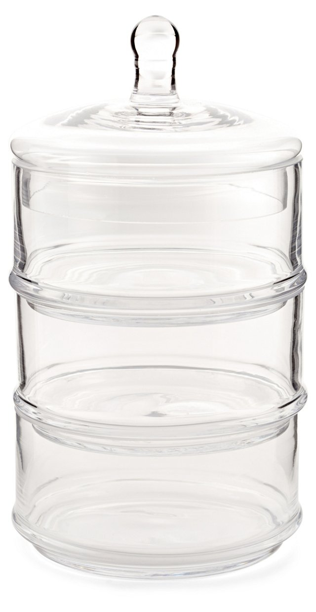 3-Tier Glass Canister
