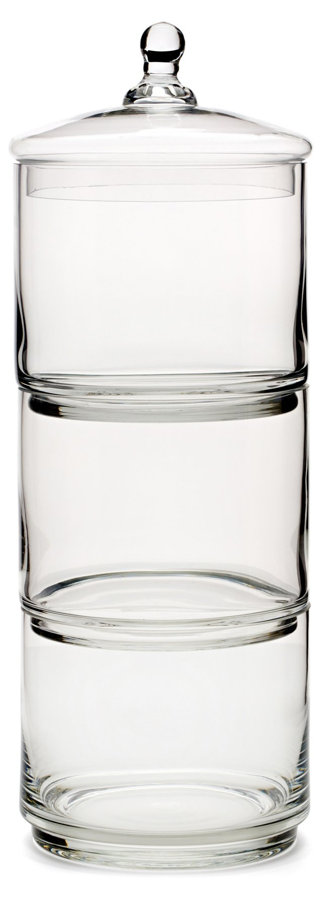 "20"" 3-Tier Glass Canister"