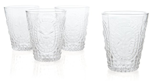 S/4 Embossed DOF Glasses, Clear