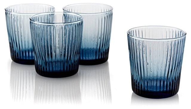 S/4 Ribbed DOF Glasses, Blue