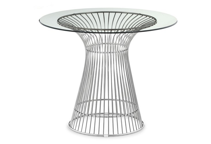 *IK Whitby Dining Table, Stainless Steel