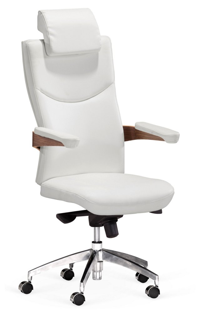 Baldwin Office Chair, White