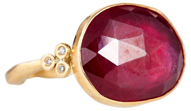 Rosecut Ruby Ring