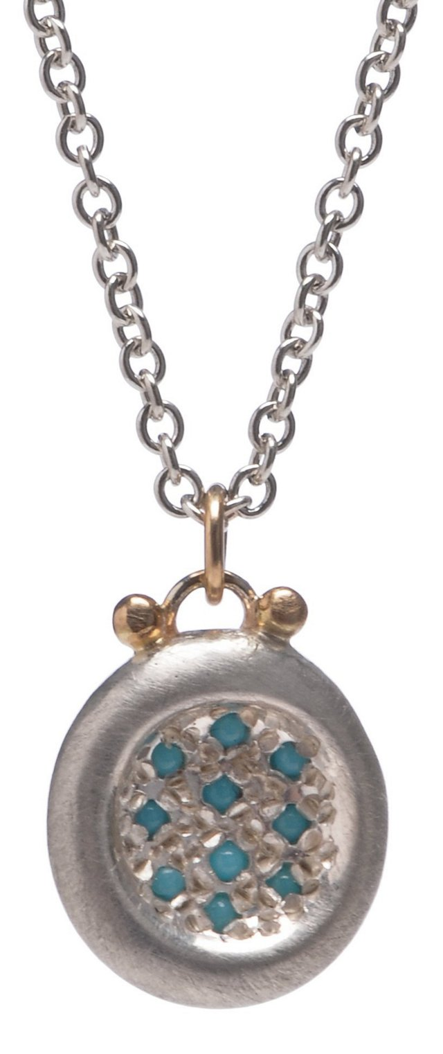 Turquoise Pavé Puddle Necklace