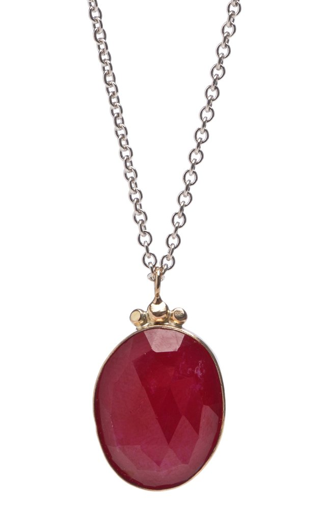 Rose-Cut Necklace, Ruby
