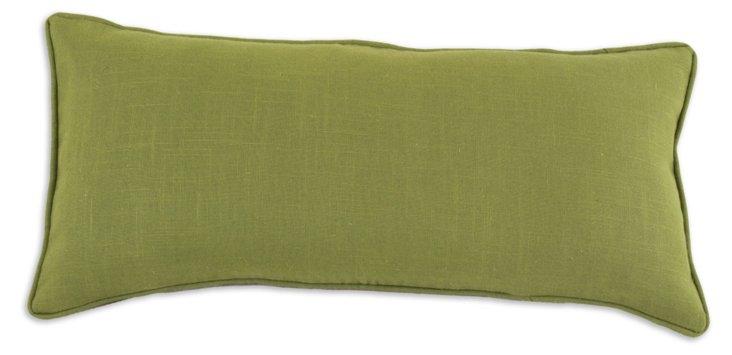 Cactus 12x25 Linen Pillow, Green