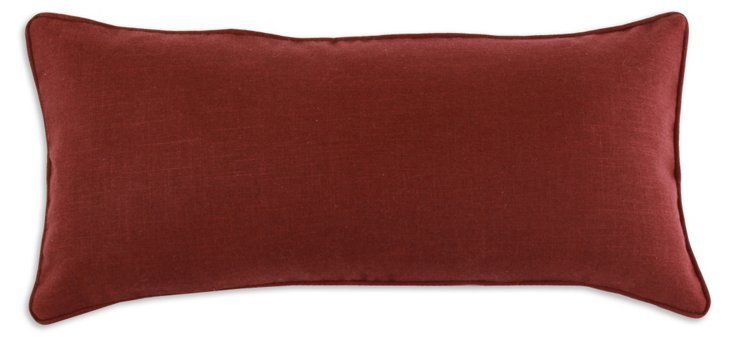 Circa Solid 12x25 Pillow, Red