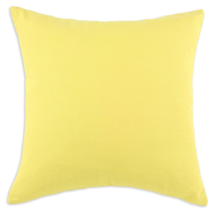 Duck 17x17 Cotton Pillow, Yellow