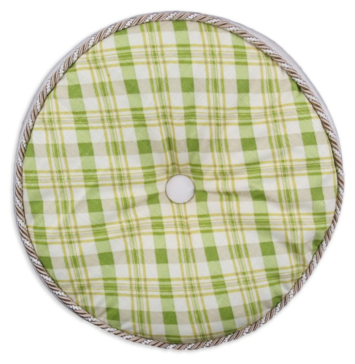 Chit Chat Round Pillow, Green