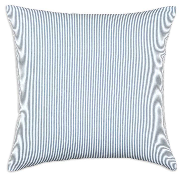 Oxford 17x17 Cotton Pillow, Blue