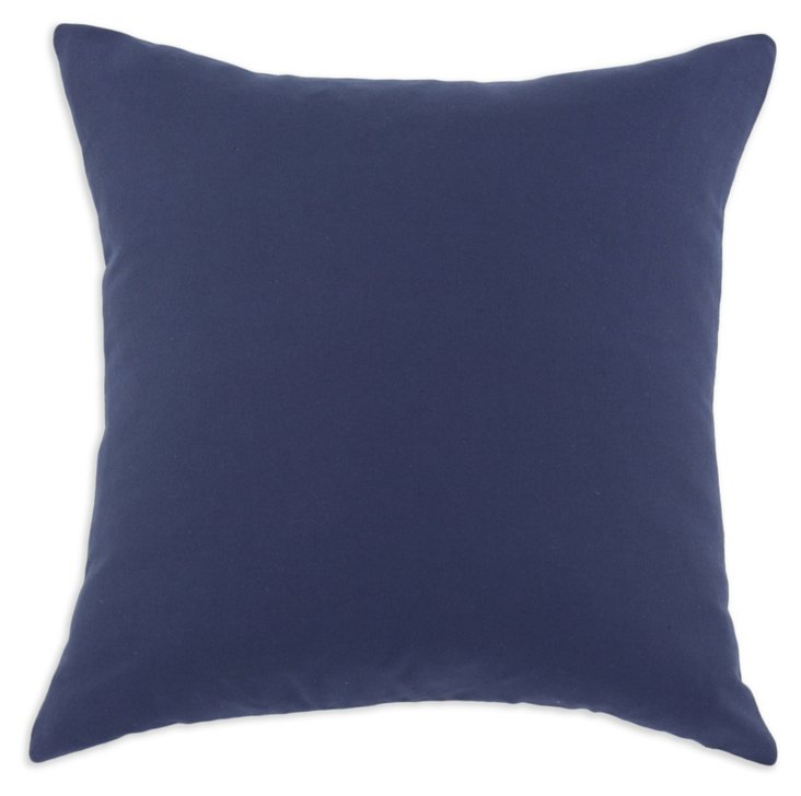 Solid 17x17 Cotton Pillow, Navy