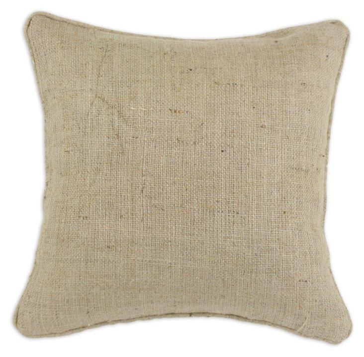 Burlap 17x17 Pillow, Tan