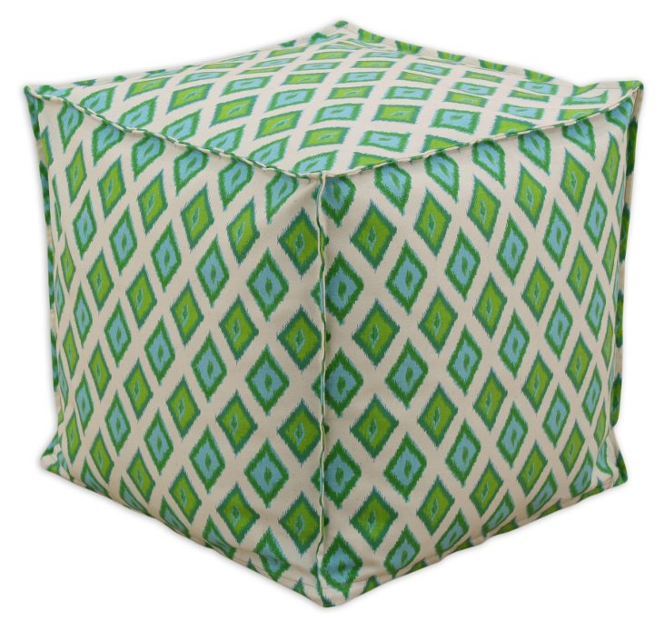 Callie Pouf, Blue/Green