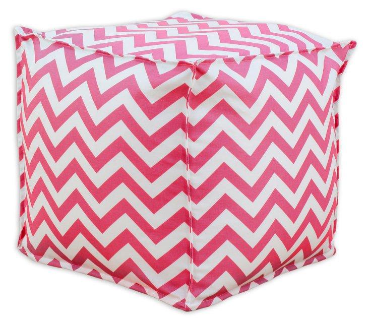 Crissy Pouf, Pink/White
