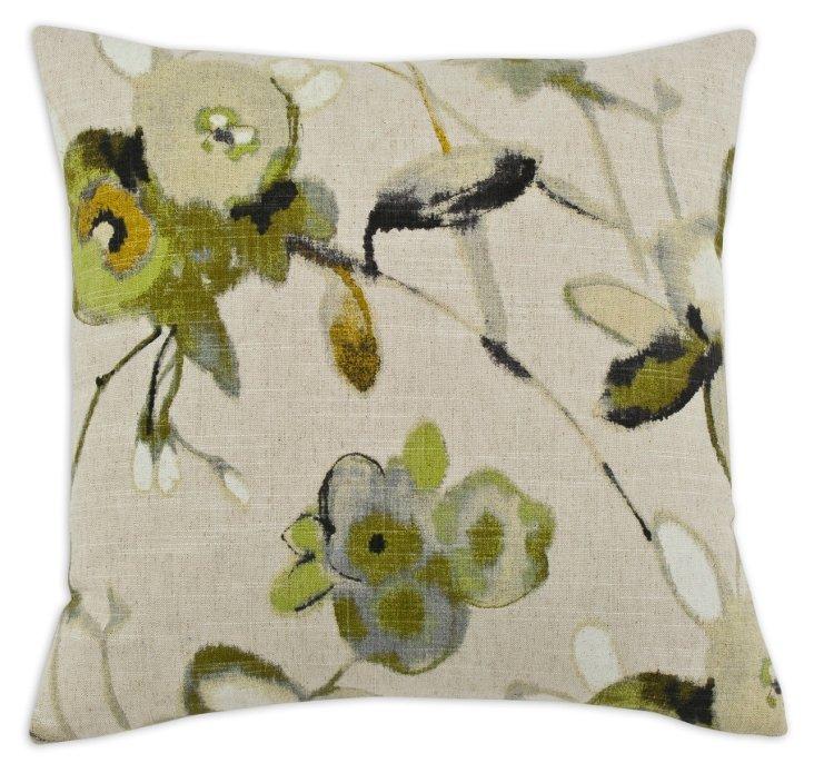 Liana Linen-Blended Pillow, Multi