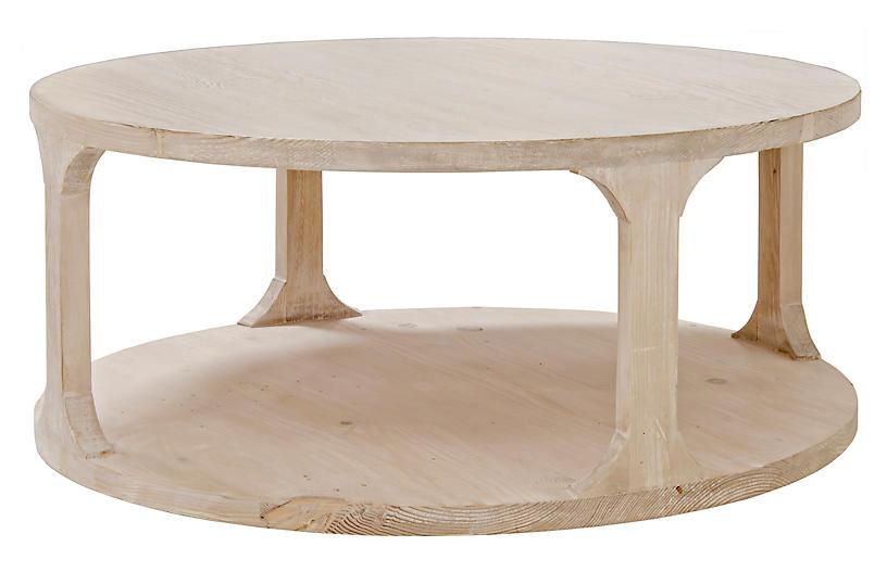 Gismo Round Coffee Table, Graywash