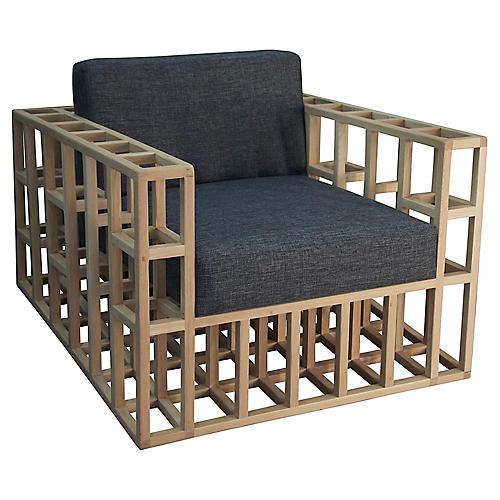 Quadrant Accent Chair, Gray