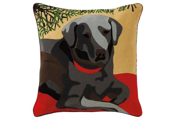 Holiday Lab 18x18 Pillow, Red