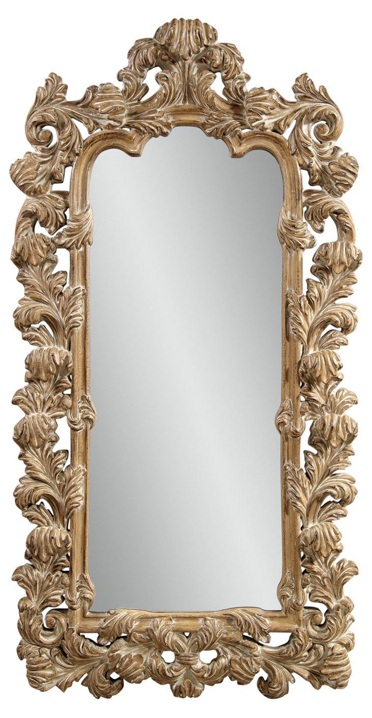 Vicenza Floor Mirror, Parchment