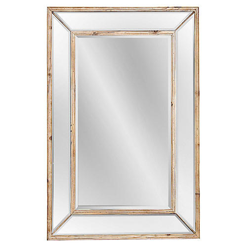 "Wellen 32""x47"" Oversize Mirror, Natural"