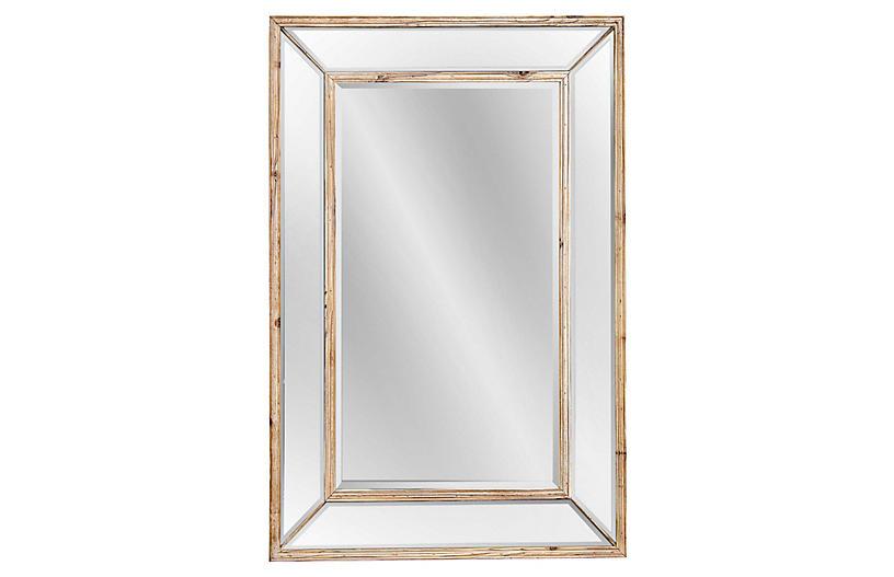 Wellen Oversized Wall Mirror, Natural