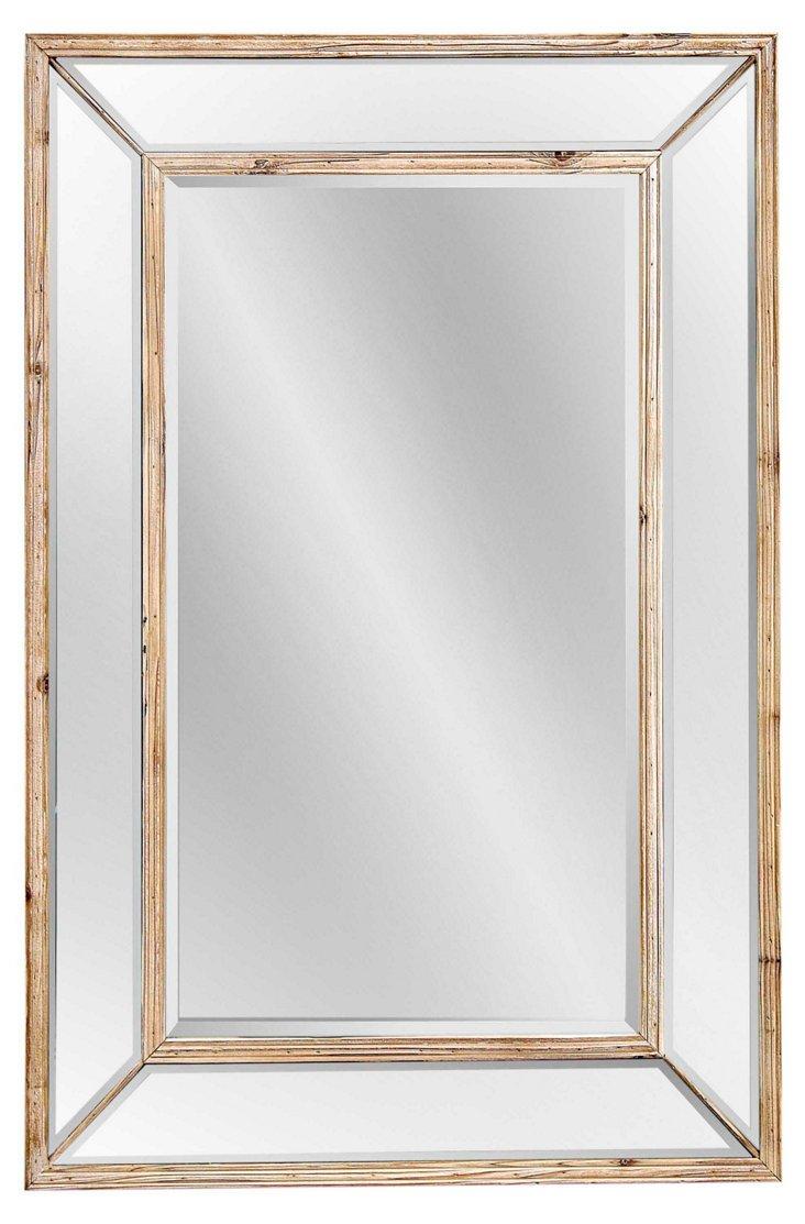 Wellen Oversize Mirror, Natural/Clear