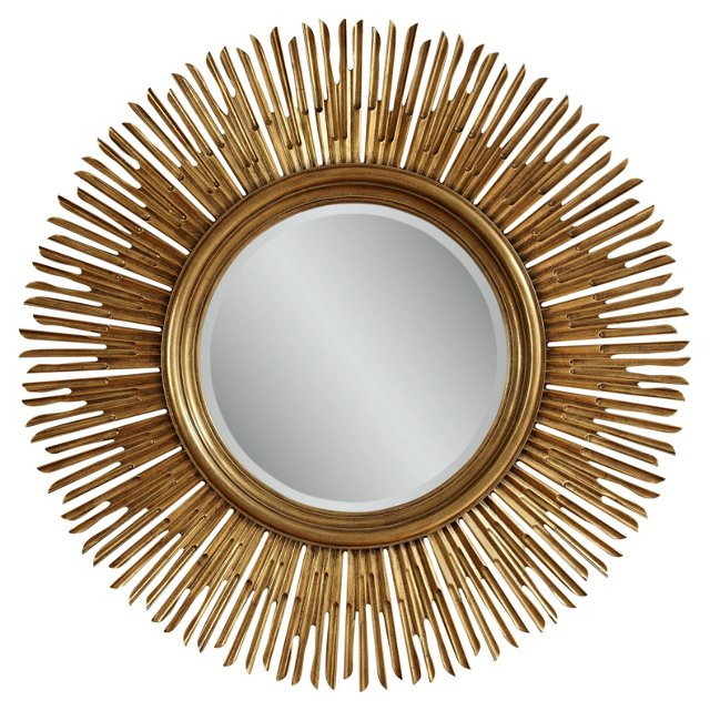 Raina Oversize Mirror, Gold