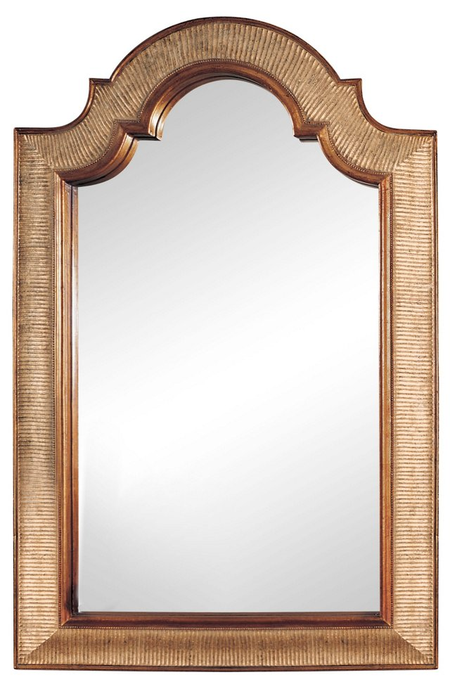 Vesey Oversize Mirror, Gold