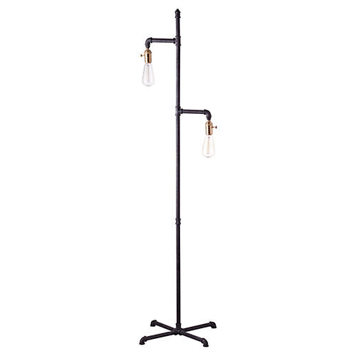 Industrial Floor Lamp, Rust