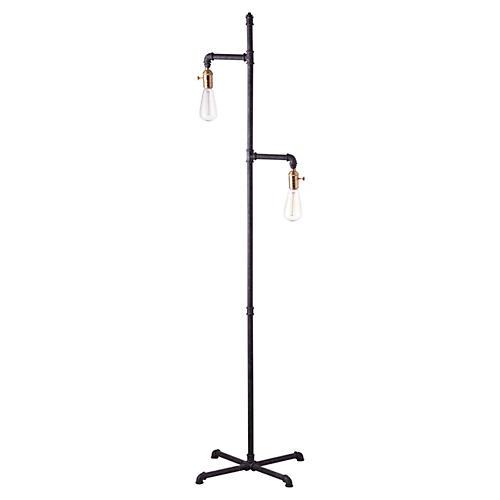Industrial Floor Lamp, Rust