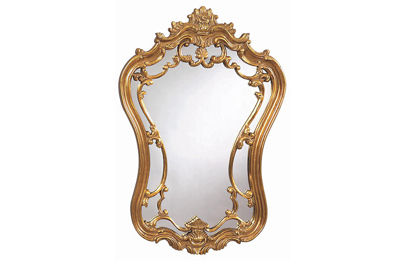 Hermosa Wall Mirror, Gold Leaf