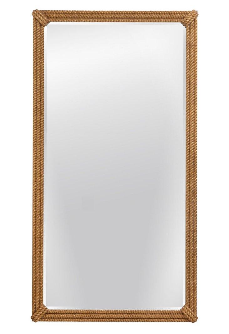 Augustina Floor Mirror, Gold