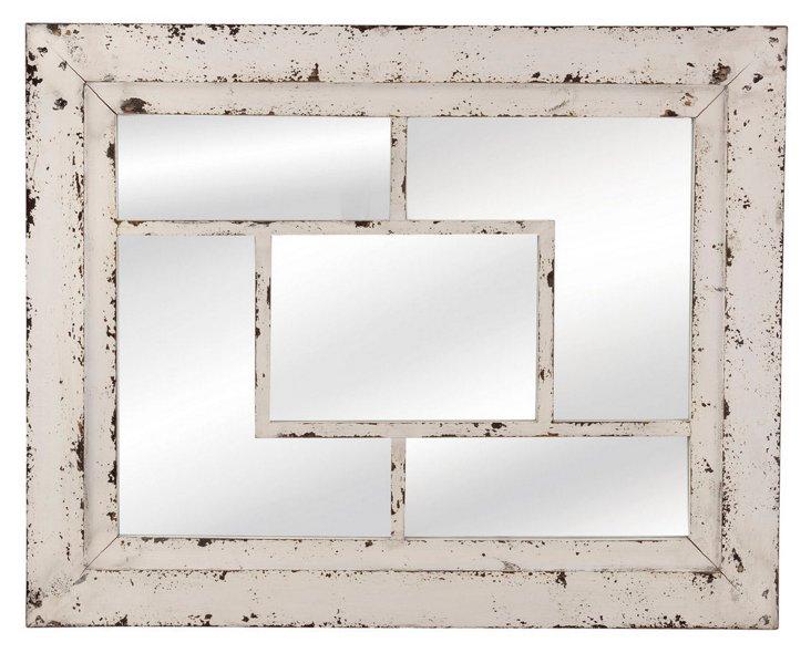 Harper Wall Mirror, Rustic White