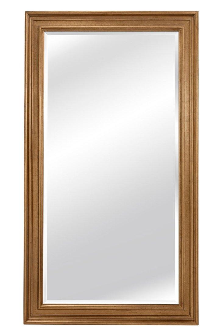 Wilson Floor Mirror, Gold