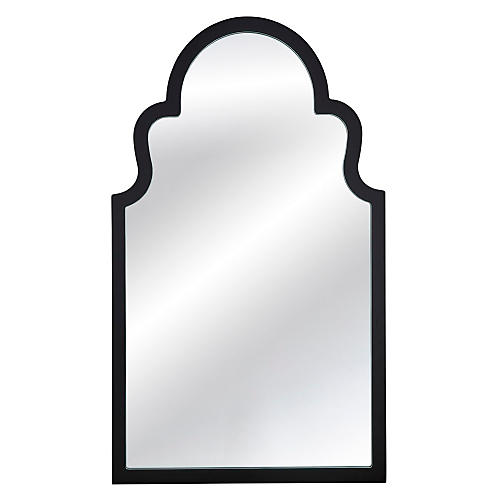 "Elberta 24""x40"" Wall Mirror, Black"