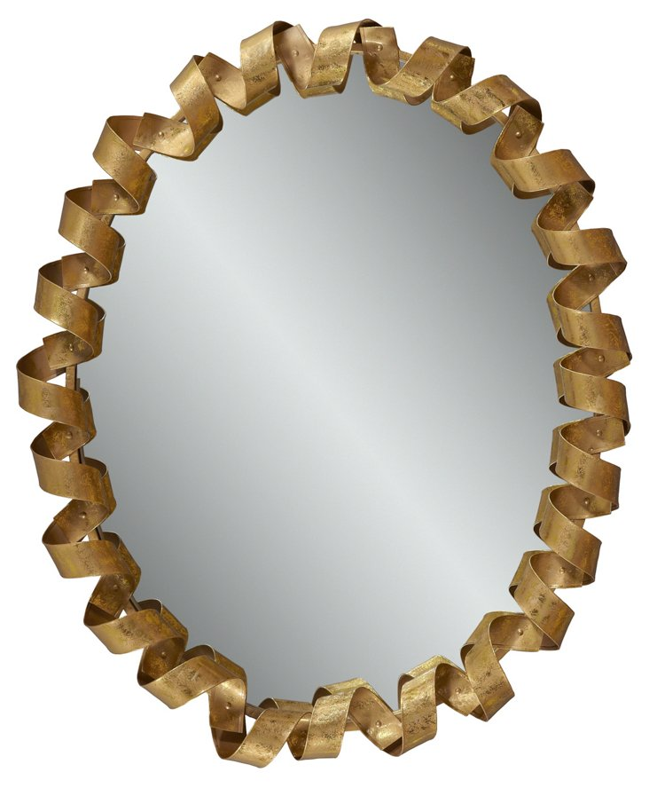 Ribbons Wall Mirror, Gold