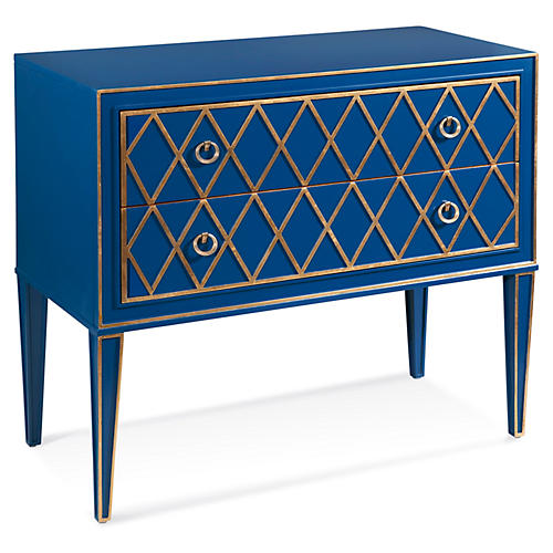 Emilia Gilded Dresser, Blue