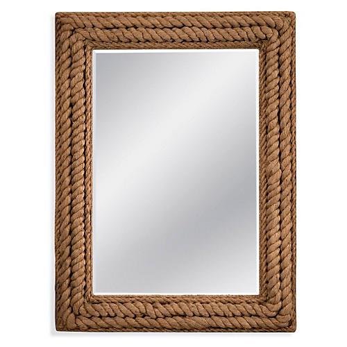 "Dena 37""x49"" Wall Mirror, Jute Rope"
