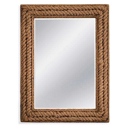 "Dena 37""x49"" Wall Mirror, Jute Rope"