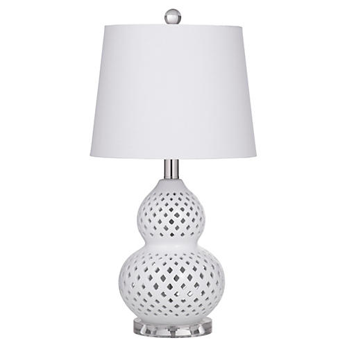 Kristin Table Lamp, White