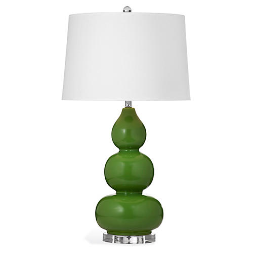 Caroline Table Lamp, Green