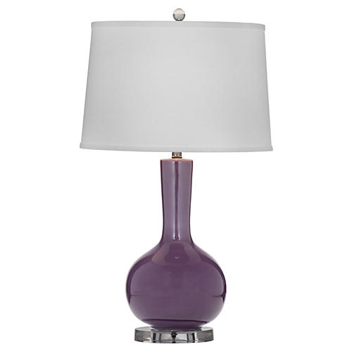 Dylan Table Lamp, Plum