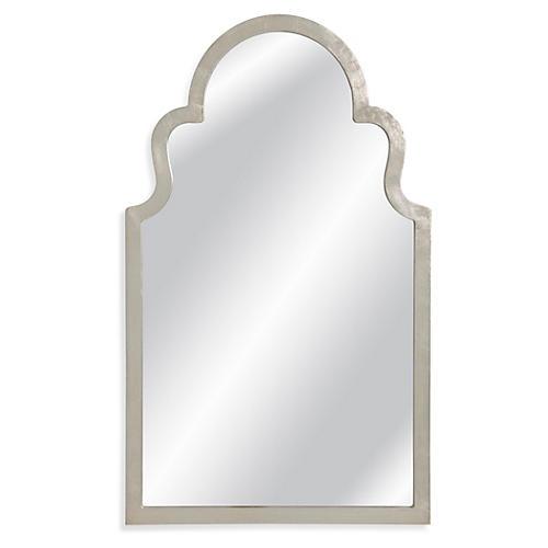 """Montvale 24""""x40"""" Wall Mirror, Silver Leaf"""