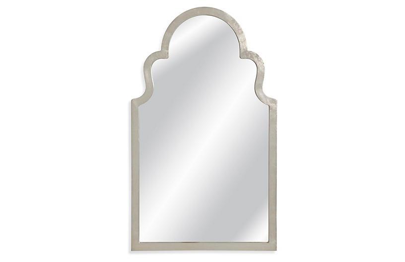 Montvale Wall Mirror, Silver Leaf