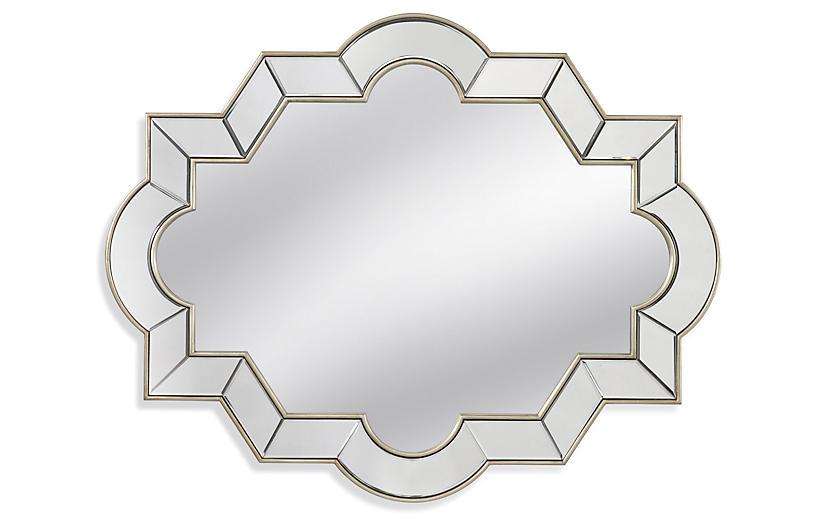 Geometric Wall Mirror, Silver Leaf