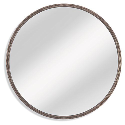 Hawthorne Oversize Wall Mirror, Bronze