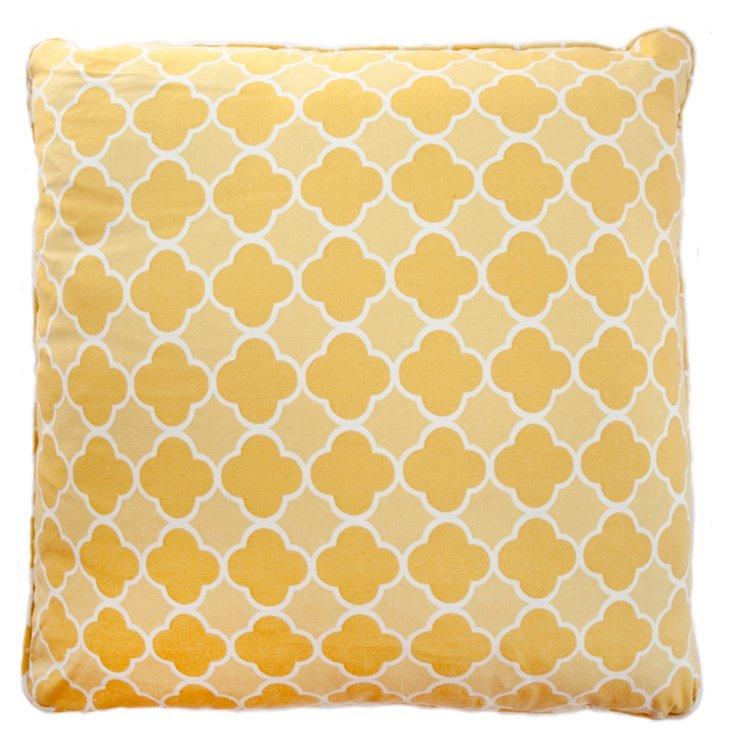 Sunshine 20x20 Cotton Pillow, Yellow