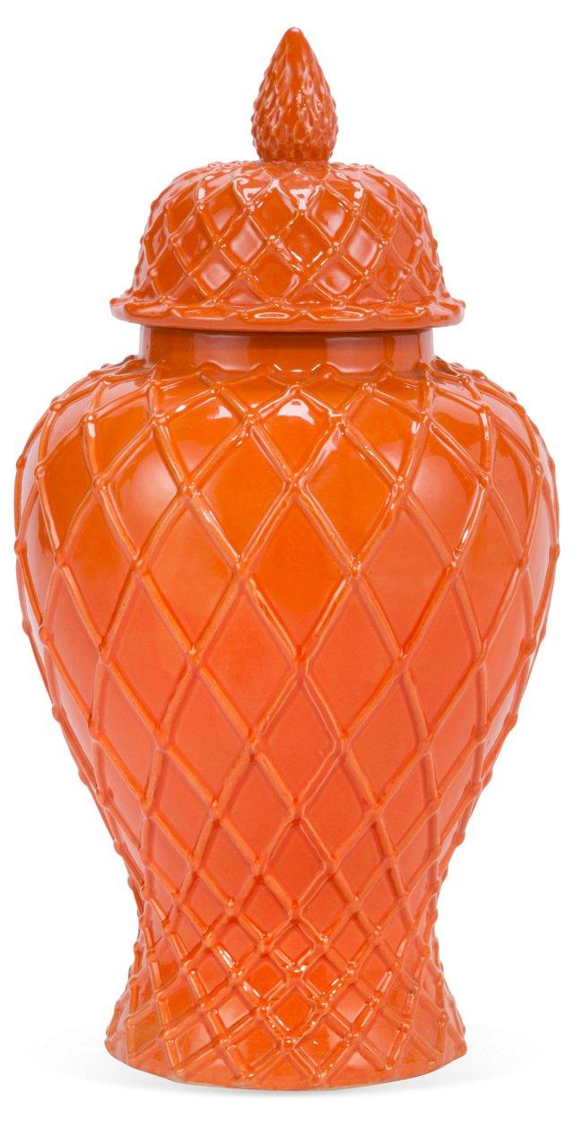"""20"""" Ginger Jar, Orange"""