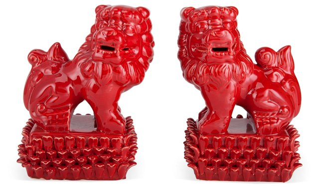 """11"""" Foo Dogs, Red"""