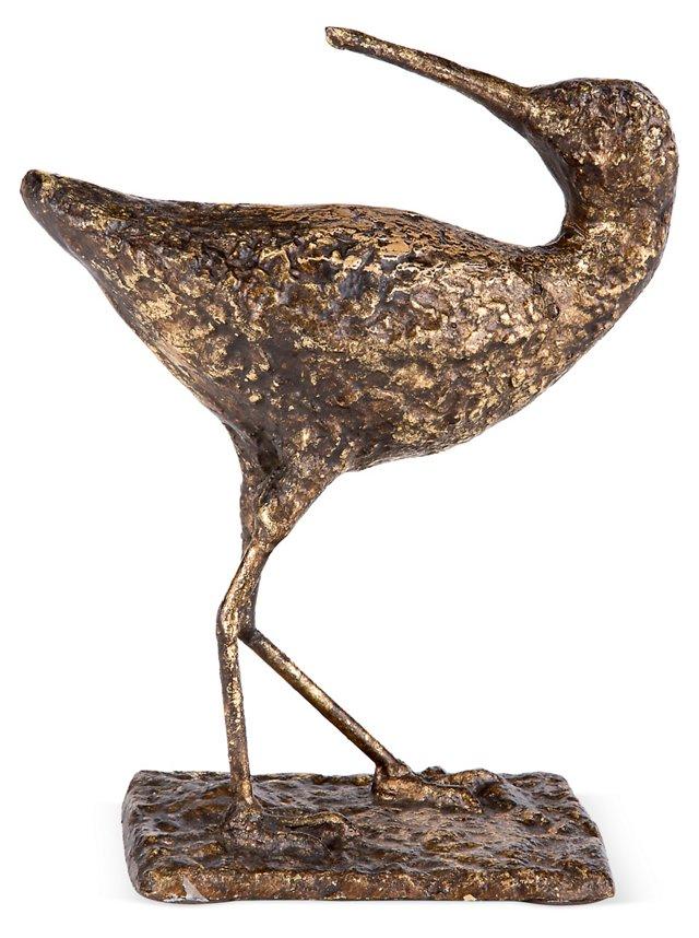 Sandpiper Sculpture, Gold I